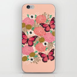 Monarch Florals by Andrea Lauren  iPhone Skin