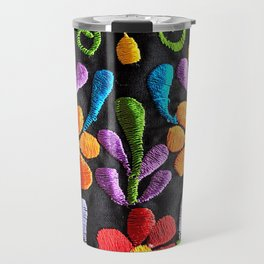 Mexican Flowers Travel Mug