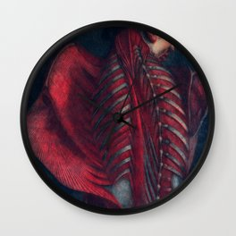 Anatomy art BACK RIB MUSCLE dark art, gothic home decor, gothic decor, gothic wall decor, medical Wall Clock