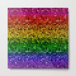 Glitter Rainbow Sequin Metal Print