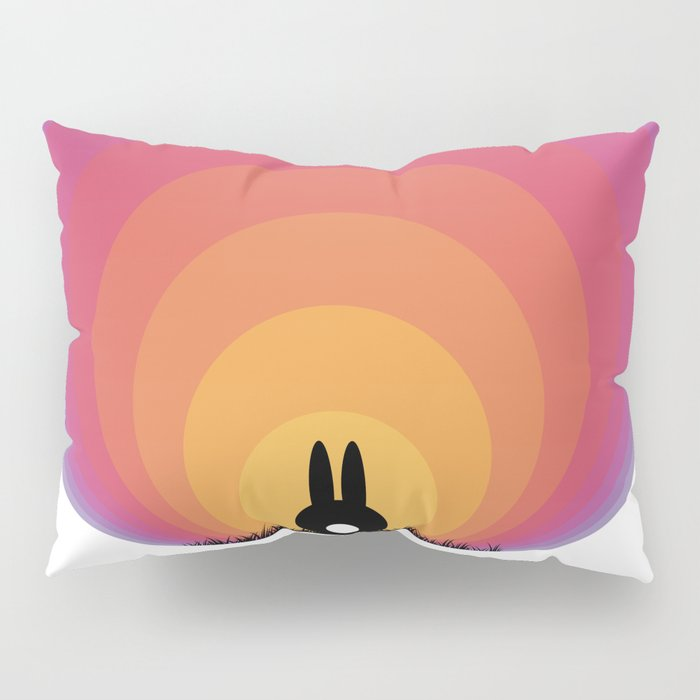 Bunny Rabbit Sunrise Pillow Sham