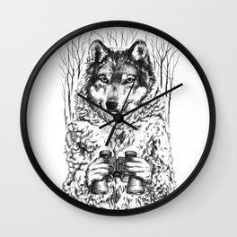 A Wolf in Sheep's Clothing Wall Clock