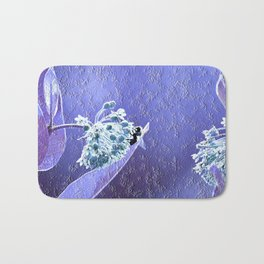 Blooming in the sky (blue-violet granite) Bath Mat