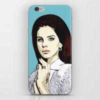 lana iPhone & iPod Skins featuring LANA by DVNJCK