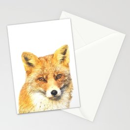 Fox Portrait Stationery Cards
