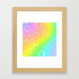 Colorful Rainbow Gradient Design! Framed Art Print