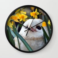 rocky Wall Clocks featuring Rocky by Astrid Ewing