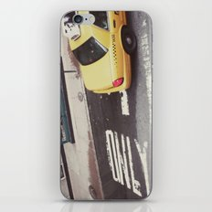 one way taxi:: nyc iPhone & iPod Skin
