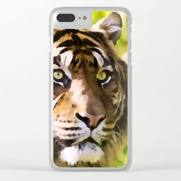 Malayan Tiger | Watercolor Painting Clear iPhone Case