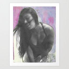 Boho Chick Art Print