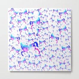Universe Unicorn Pattern Metal Print
