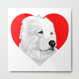 Great Pyrenees Metal Print