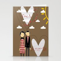lovers Stationery Cards featuring Lovers by BruxaMagica