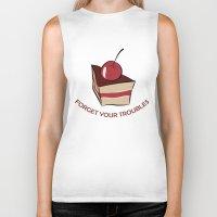 cake Biker Tanks featuring cake by Irina  Romanovsky