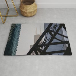 Steel and Glass Rug