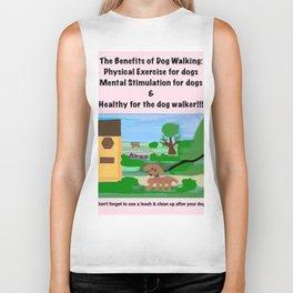 Dog Walking Shirt Series #3 Biker Tank