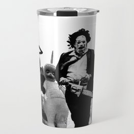 Leatherface with Teletubbies Travel Mug