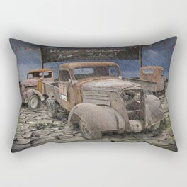 Vintage Auto Sales by Harv Rectangular Pillow
