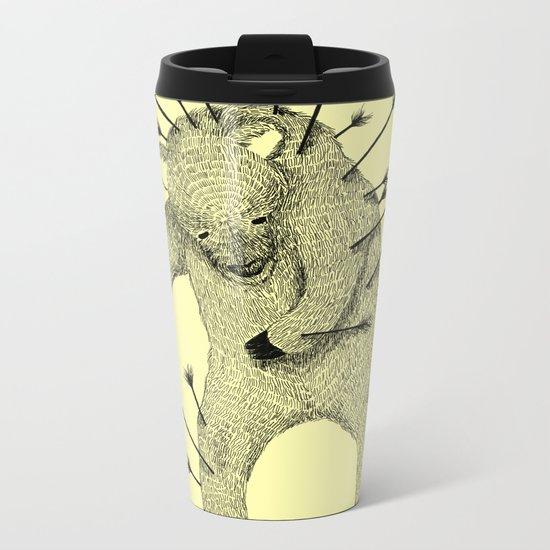 Life and Love (Yellow) Metal Travel Mug