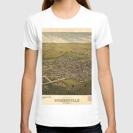 Vintage Pictorial Map of Somerville NJ (1882) T-shirt