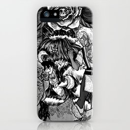 The Deadly Legend of the Blue Rose iPhone Case
