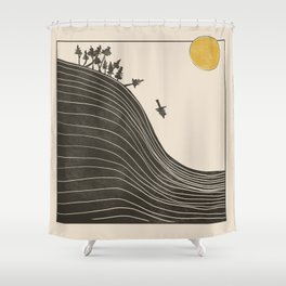 Fall of the forest Shower Curtain