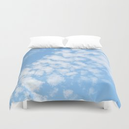 Summer Sky with fluffy clouds Duvet Cover