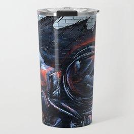 Astronaut Mural Royal Stain Travel Mug
