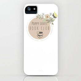 Poppy Loves Book Club iPhone Case