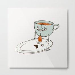 Tea Baggin' Metal Print