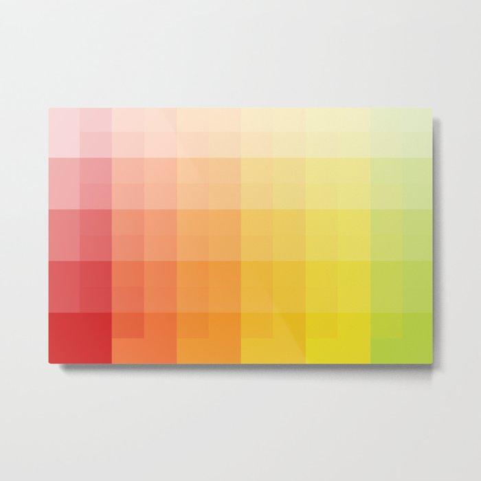 citrus pixelate Metal Print