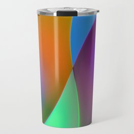 green lines -1- colorvariation Travel Mug