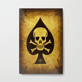 Death Card Ace Of Spades Metal Print