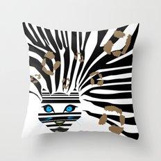 Leopard Zebra crossover Throw Pillow