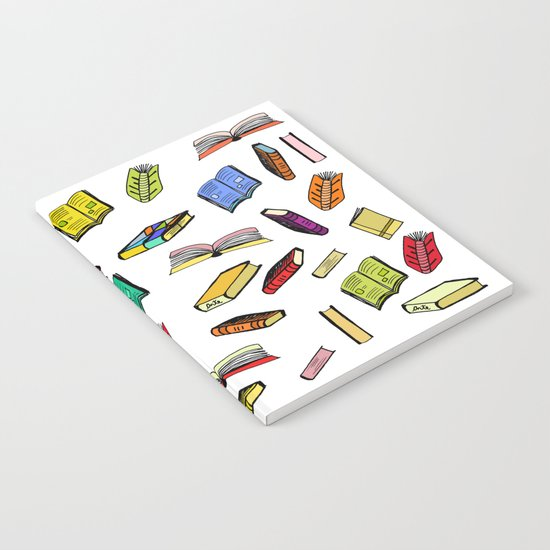 Books all over Notebook