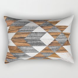 Urban Tribal Pattern 12 - Aztec - Wood Rectangular Pillow