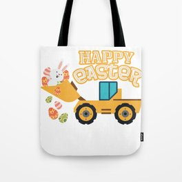 Happy Easter Tractor Gift Boys Kids Tote Bag