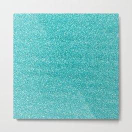 Sea Glitter Metal Print