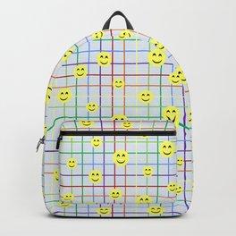 Colorful Smileys 2 - light blue Backpack