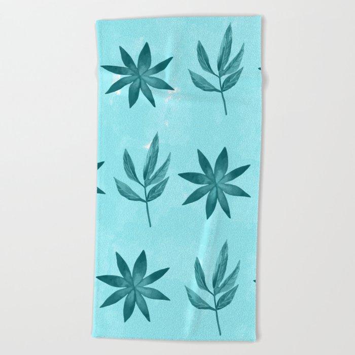 Colorful Leaves IX Beach Towel