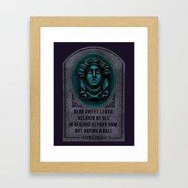 Madame Leota Gravestone Framed Art Print
