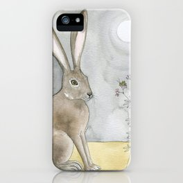 Hare and Cricket iPhone Case