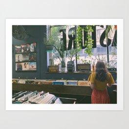 Vinyl Browsing Art Print