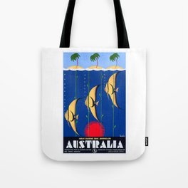 1930 Australia Great Barrier Reef Travel Poster Tote Bag