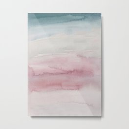 Kiss of Blush Watercolor Metal Print