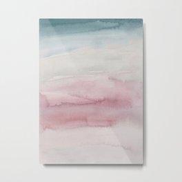 Kiss of Blush Watercolor Metal Print