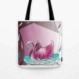 Swan Song in Technicolor Tote Bag