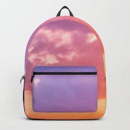 Rainbow Palm Trees Sunset (blue, pink, orange) Backpack