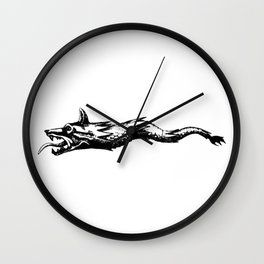 dacia wolf flag Wall Clock
