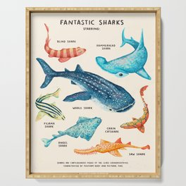 FANTASTIC SHARKS Serving Tray